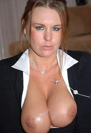 Public cum on tits